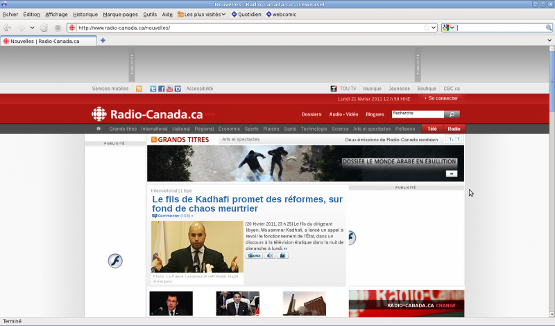 radio-canada refonte page nouvelles
