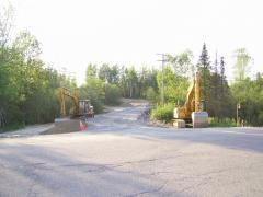 Construction de la piste cyclable pour prolongé la rue Lalemant