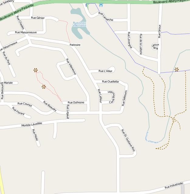 Carte OpenStreetMap du sud de Mont-Laurier