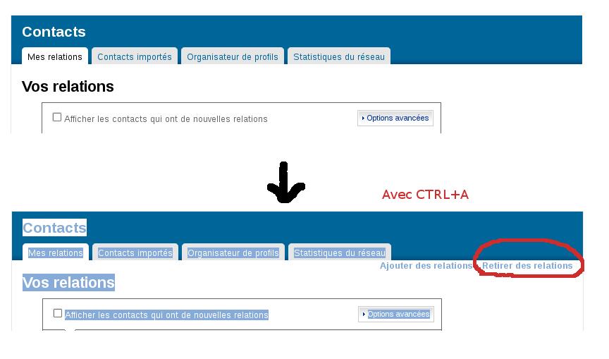 bug d'interface de linkedin.com
